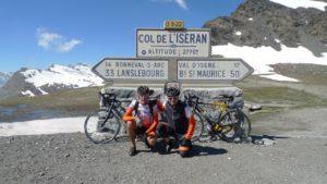 Orange Alpenüberquerung